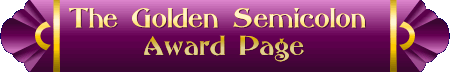 The Golden Semicolon Award Page Banner PNG